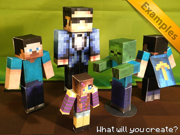 Minecraft Papercraft Studio Lets You Print Minecraft Models: Proto-3D Printing