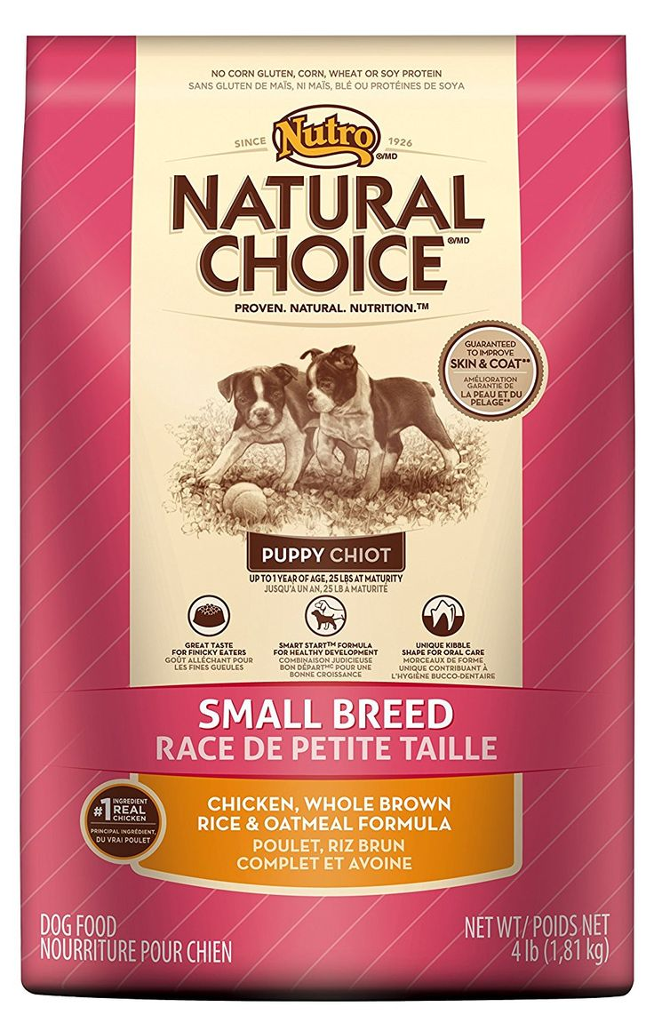 Natural choice small breed puppy chicken whole brown rice