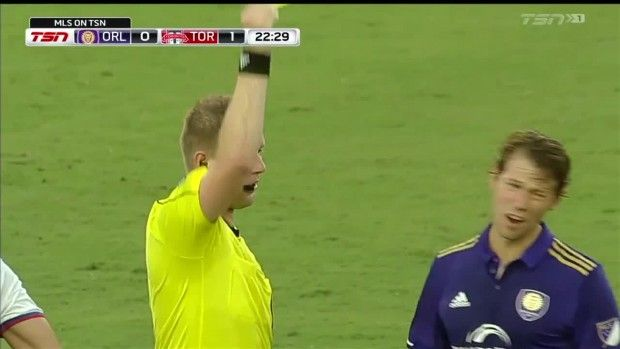 #MLS  YELLOW: Jonathan Spector gets a yellow for a professional foul