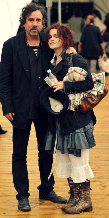 Tim Burton and Helena Bonham Carter..
