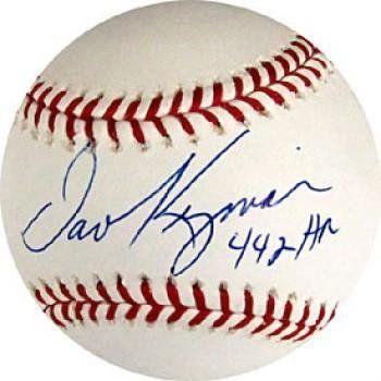 """Dave Kingman """"442 HR"""" Autographed Baseball - Autographed Baseballs by Sports Memorabilia. $71.64. Dave Kingman 442 HR Autographed / Signed Baseball. Save 16%!"""