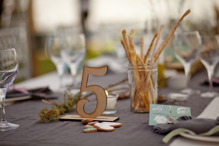 Table numbers - wooden laser cut