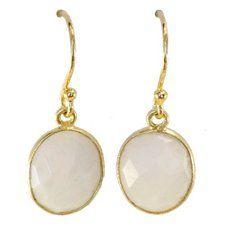 Moonstone and goldplated sterling silver earrings