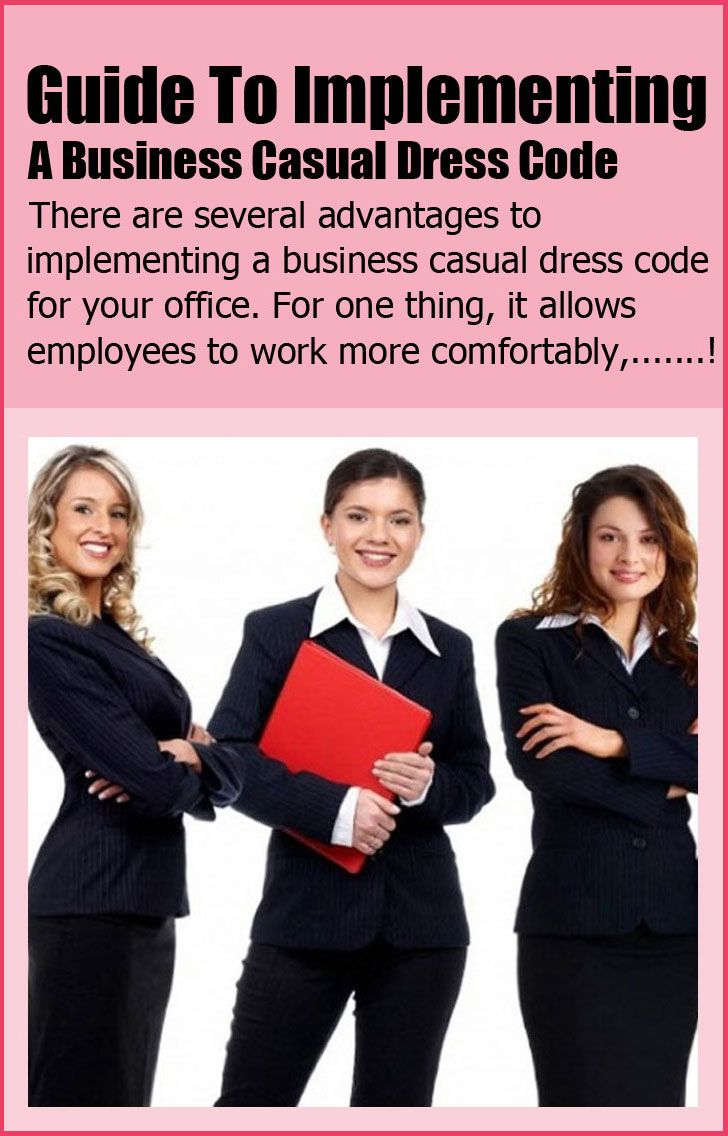 Business Casual Dress Code Examples