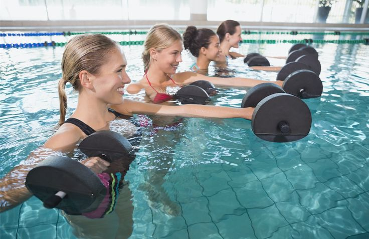 Get your body into shape with these pool exercises, perfect for the hot summer months.