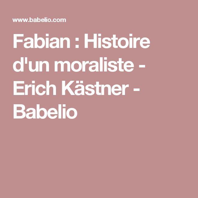 Fabian : Histoire d'un moraliste - Erich Kästner - Babelio