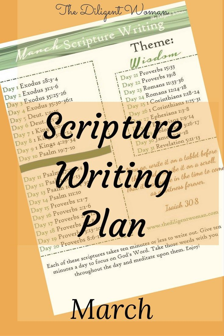 Wisdom - it is what created the world and it is health to our body and soul.  March's Scripture Writing puts our focus on Wisdom - where it comes from and how to get it! Read on to learn how to download a copy of the plan and join the learning!
