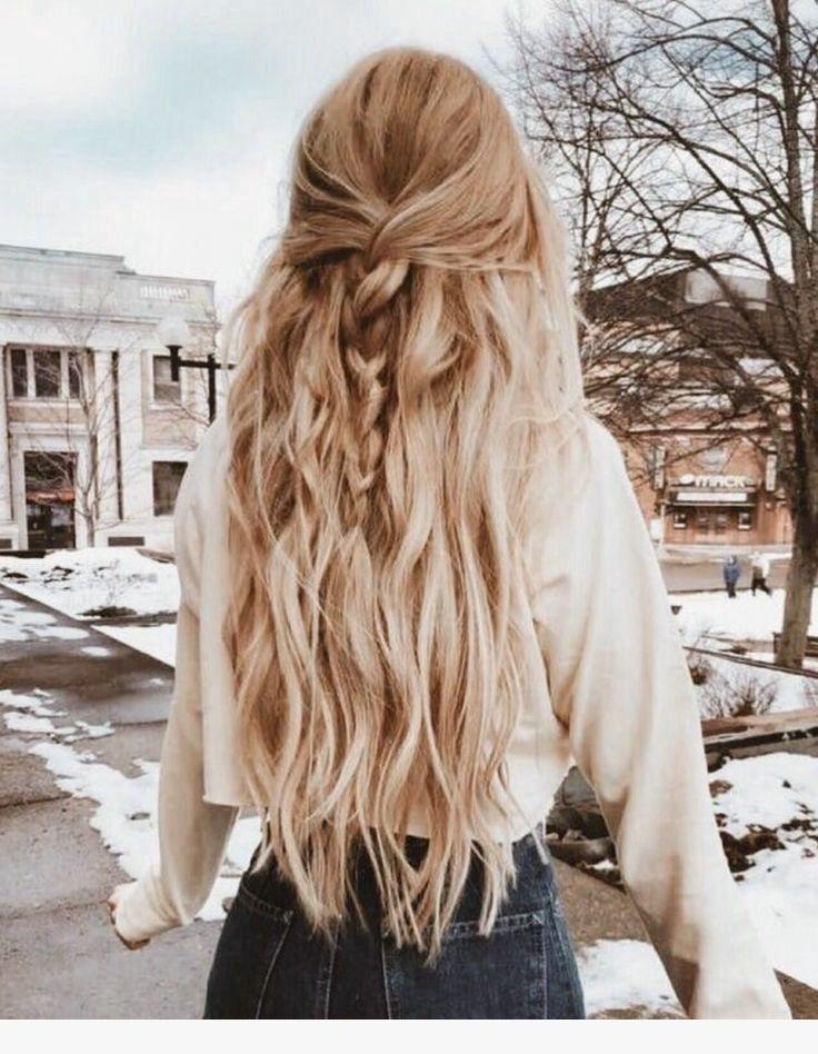 geflochtene halbe Frisur nach oben