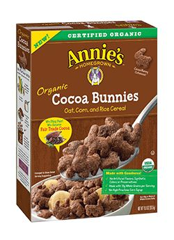 Organic Cocoa Bunnies Cereal - Annie's Homegrown