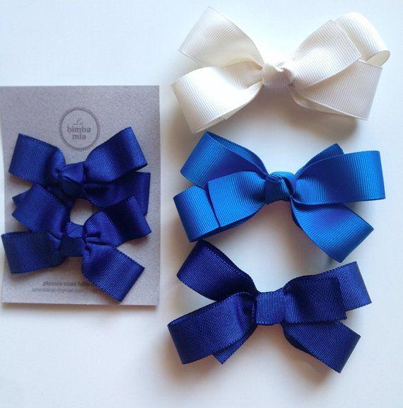 Pinzas-Marina de guerra azul grosgrain cinta y dos por labimbamia