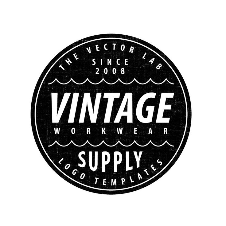 Logo Templates: Vintage Workwear | Logo templates, Adobe ...