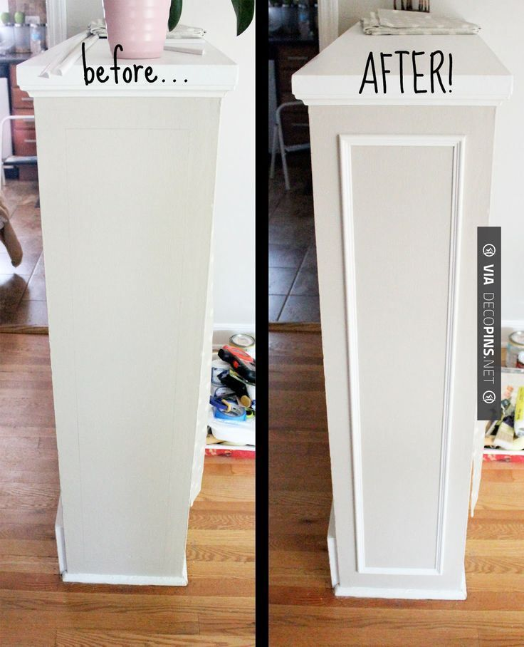 Amazing - What a difference... Adding Moulding to the Built-ins...   CHECK OUT…