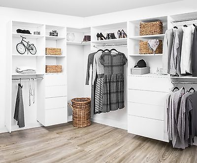 details about modular closets 6 12 ft wood custom closet organizer system white