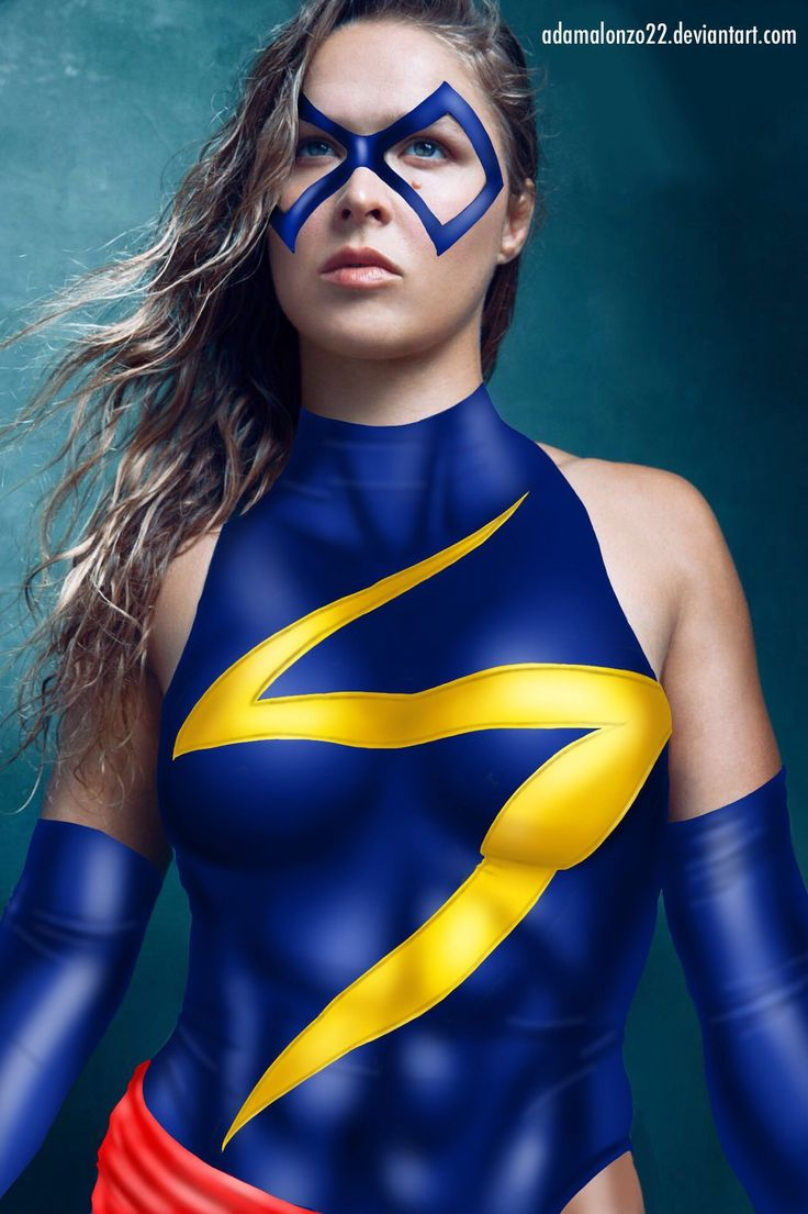 fantasy art of Ronda Rousey as Captain Marvel: if you love #MMA, you'll love the #UFC & #MixedMartialArts inspired fashion at CageCult: http://cagecult.com/mma