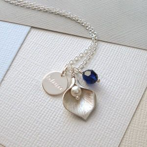 Personalised Calla Lily Necklace - gifts for mothers