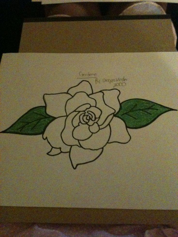 Black And White Gardenia Tattoo   Trendy Image Galleries