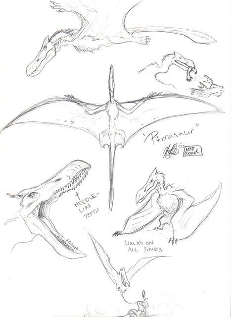 Skull Island Pterosaur by Matt Frank