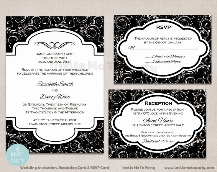Wedding Invitation, RSVP card, and Reception Card  Engagement Party Invite Invite Me To Party: Wedding Invitation / Engagement Invitation