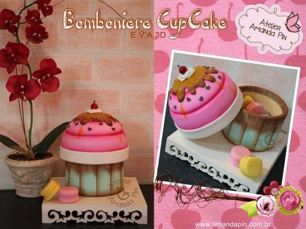 Bomboniere Cupcake + Amanda Pin