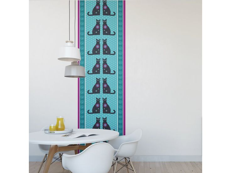 Tapeta Kočky. Originální tapeta Kočky panel tapety 70 x 280 cm můžete použít jeden pruh tapety nebo více pruhů vedle sebe vliesový materiál ekologický tisk rozměr můžeme upravit podle přání