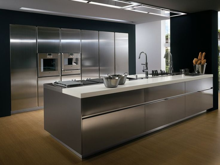 Lacquered kitchen with island without handles T45 Collection by TM - ernestomeda barrique