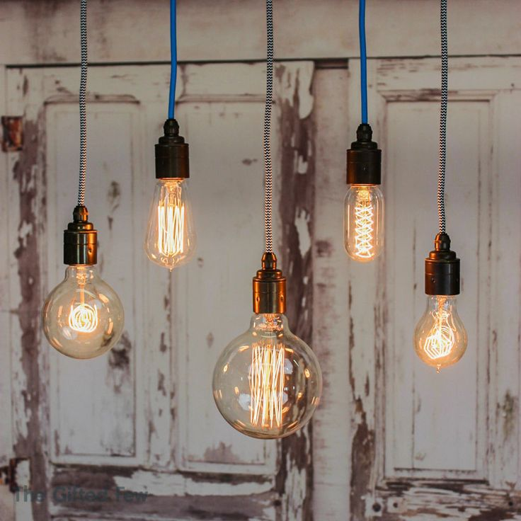 Filament Light Bulb Vintage Style Edison Decorative Industrial Squirrel Cage