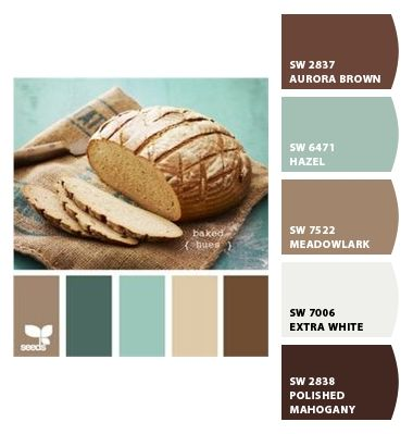 Paint colors from Chip It! by Sherwin-Williams (Aurora Brown accent wall and Meadowlark Living Room)