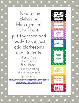 Polka Dot Behavior Management Clip Chart - FREE on TPT, but I'd probably only use green, yellow, and red.