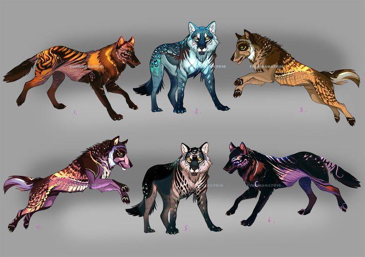 Wolfpack Adopts3 (3/6 Open!) by Furrirama.deviantart.com on @DeviantArt