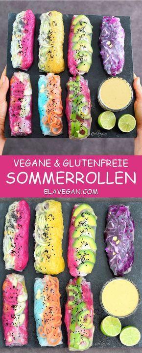 Sommerrollen vegan und glutenfrei