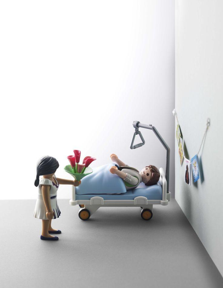 Human interest in JAN Magazine Photography by Frank Brandwijk | 'Paymobil' 'Hospital' 'Sick' 'Bringing Flowers' 'Photo Illustration' 'Fun'