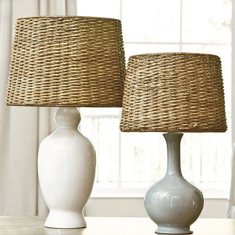 Dareau woven rattan lamp shade could be interesting to for Floor lamp with woven shade