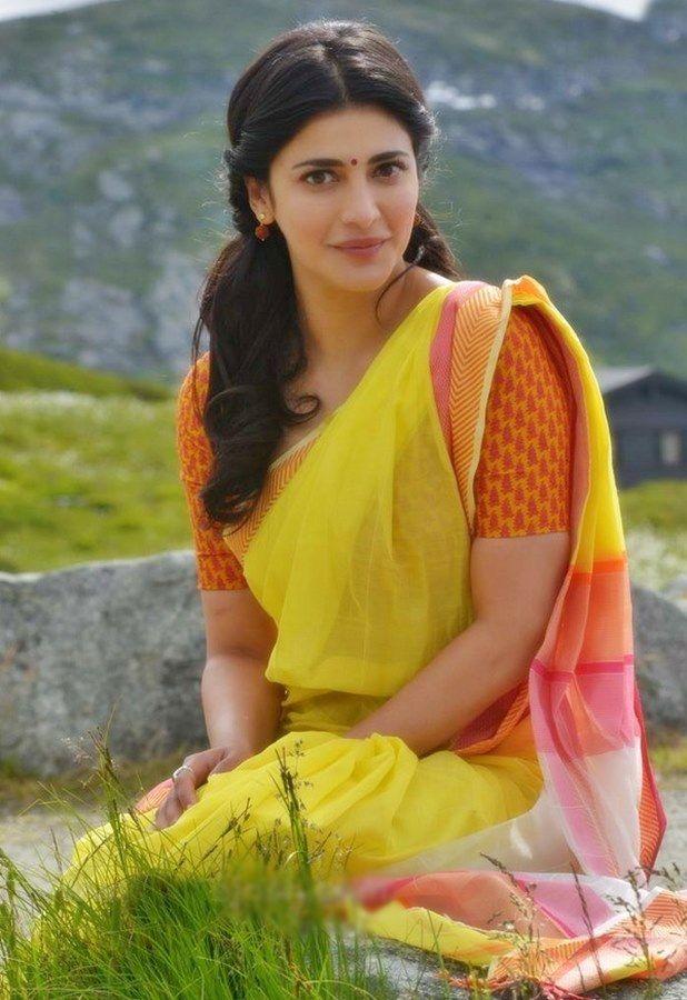 shruti_haasan-saree-katamarayudu-movie