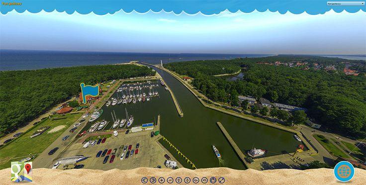Takiej Łeby nie znacie. Spacer w powietrzu z perspektywy ptaka.  #łeba #morze #bałtyckie #panorama #Bałtyk #Leba #Baltic #Sea #Poland #virtual #tour