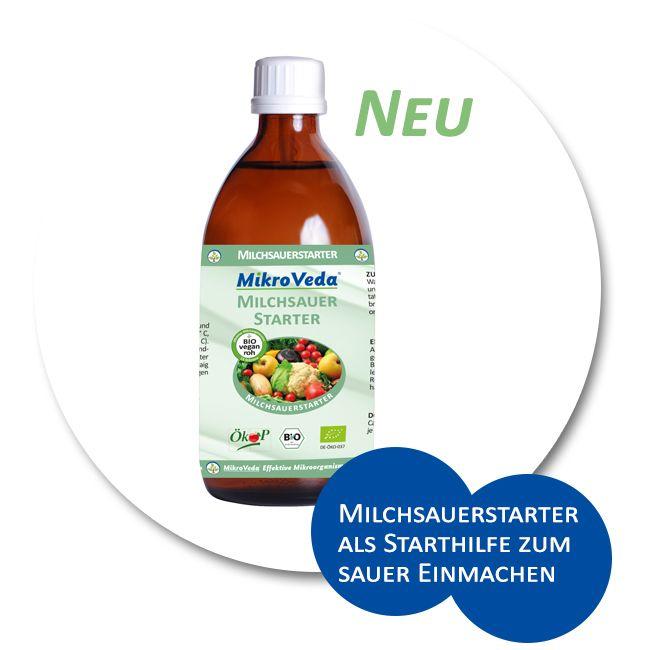 MikroVeda® Milchsauerstarter. Als Starthilfe zur Fermentation von Sauergemüse, wie z. B.: Sauerkraut, Blumenkohl oder Brokkoli. Aus rein pflanzlichen Zutaten hergestellt. In Rohkostqualität und für eine vegane Ernährung geeignet. Lactose- und glutenfrei. Ohne Konservierungsmittel oder synthetische Aromen. #mikroveda #effektivemikroorganismen #milchsauerstarter #sauereinmachen #bio #roh #vegan