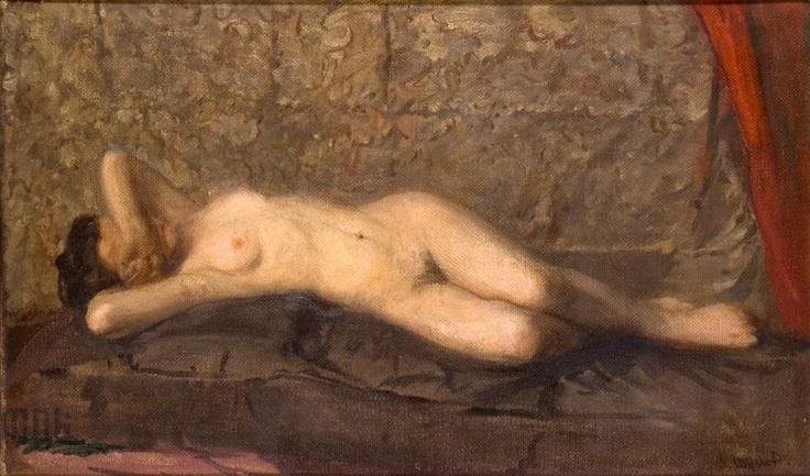 """Leon Wyczółkowski """"Akt kobiety leżącej"""" (ok. 1908), Kamienica Szołayskich, Kraków"""