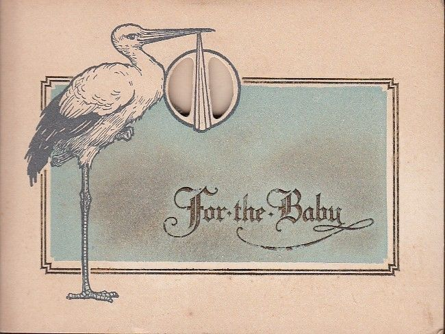 State Savings Loan & Trust Bank Quincy IL Baby Savings Account circa 1916 #quincyil #savingsaccount #stork #baby #vintage
