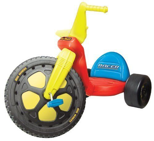 """16"""" Big Wheel - """"The Original Big Wheel"""" - 16"""" Big Wheel Racer - Red by The Original Big Wheel. $95.98. """"The Original Big Wheel"""" - 16"""" Big Wheel Racer - RedThe Original Big Wheel is back!! Features include: 3 position Grow With Me seat, a low center of gravity for safe riding, easy on...easy off body styling, an oversized front wheel for fast action peddling and wide rear wheels for sidewalk gripping action! The Original Big Wheel is easy to assemble and assem..."""