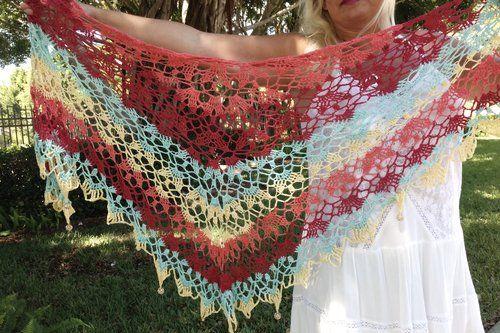 537 besten Crochet Scarf, Shawl, Poncho Bilder auf Pinterest ...