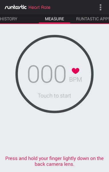 Runtastic Heart Rate (from Android Niceties)