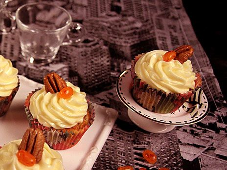 Höstiga cupcakes med pumpa | Recept från Köket.se