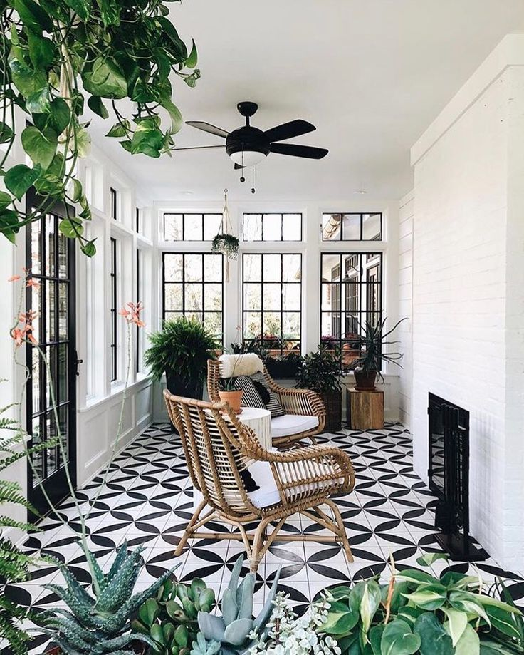 Living out our sunroom dreams | Image via @grace_start, design by @jeanstoffer.