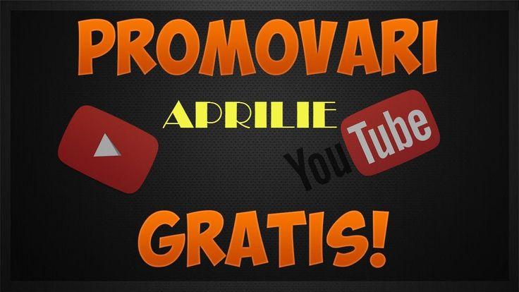 Promovari gratuite #3 Concurs luna Aprilie 2016
