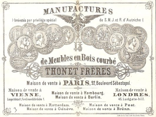Thonet Lithografie Paris 1866