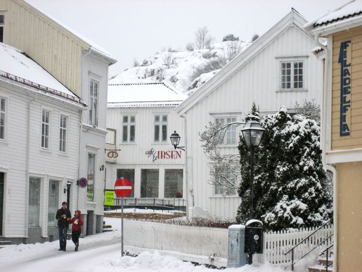 Cafe Ibsen - Grimstad, Norway. My father's hometown. I've been there a few times. Norway is a beautiful country.