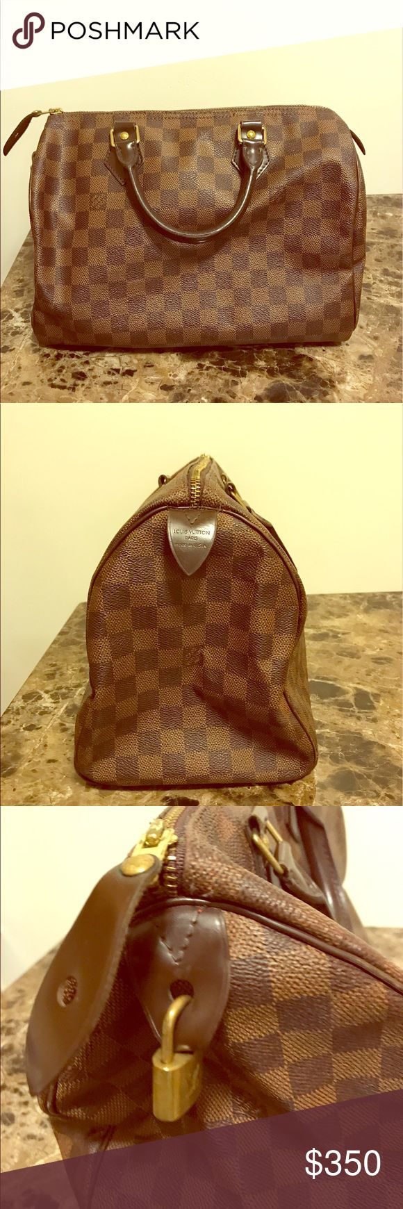 Louis Vuitton Speedy 30 Damier purse Brown checkered Damier bag AUTHENTIC. purchased in 2011 Louis Vuitton Bags Mini Bags