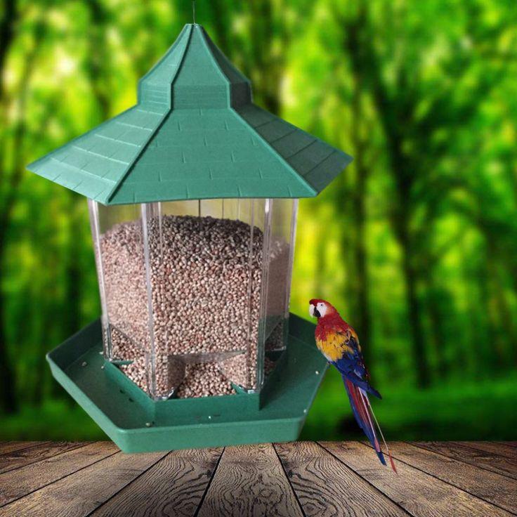 Get Best Price Waterproof Gazebo Hanging Wild Bird Feeder Outdoor Feeding For Garden Decoration #Waterproof #Gazebo #Hanging #Wild #Bird #Feeder #Outdoor #Feeding #Garden #Decoration