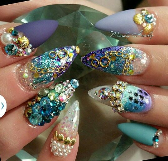 Mermaid Nail Art Acrylic Nails: 343 Best Images About The Little Mermaid Ballet