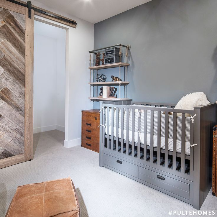 A Variety Of Gray And Neutral Tones Come Together For A Relaxing,  Monochromatic Space In This Clean Nursery. Design