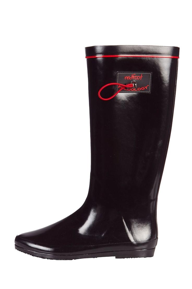 Venda Redfoot & Clever Pretty Shoes / 7899 / Redfoot / Botas / Botas Dobráveis em Borracha Preto Brilhante. De 75€ por 26€.